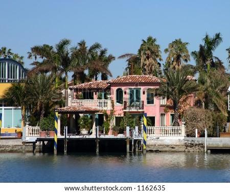 Mansion at miami beach - stock photo
