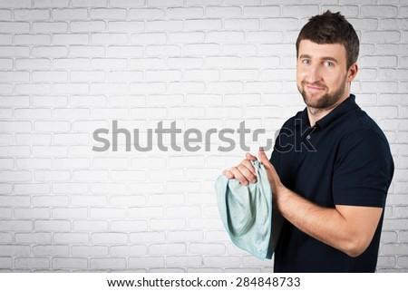 Manual Worker, Mechanic, Workshop. - stock photo