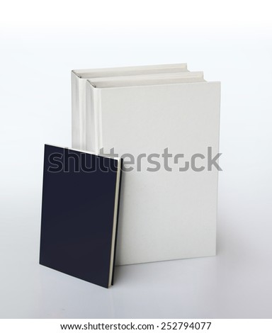 manuals with empty covers for free-text - stock photo
