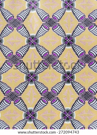 Manufactured African fabric (cotton)   - stock photo