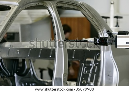 manufacturing of cars - stock photo
