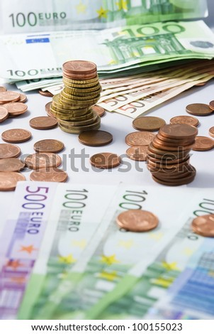 Many beautiful pictures of euro money - stock photo