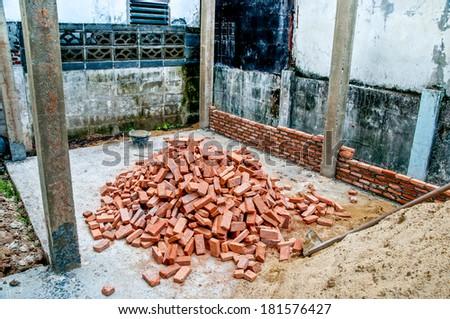 Many Brick of  construction - stock photo