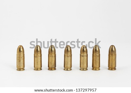 many bullets on a white background - stock photo
