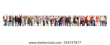 Many Colleagues Isolated Groups  - stock photo