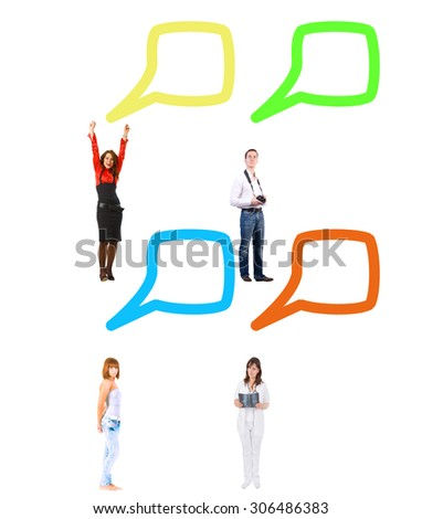 Many Colleagues Negotiations Idea  - stock photo