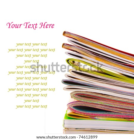 Many color magazines - stock photo
