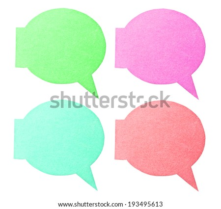 many color of label isolated on white background, clipping path - stock photo