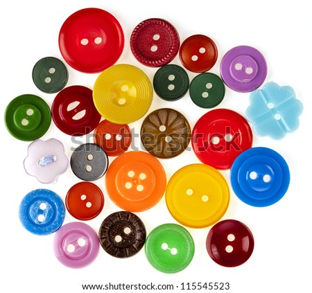 many colored buttons background - stock photo