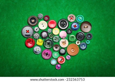 Many colorful buttons - stock photo