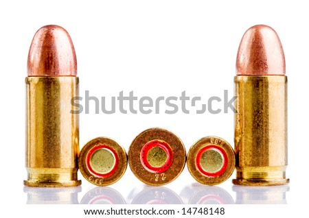 many different size bullets - stock photo