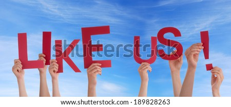 Many Hands Holding Like Us in the Sky - stock photo
