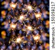 Many Holiday sparklers on colorful background - stock photo