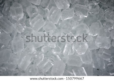 many ice cubes use for background - stock photo