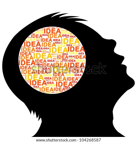 Many Idea in Brain Isolated on White Background - stock photo