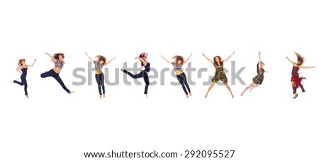 Many Models In the Air  - stock photo