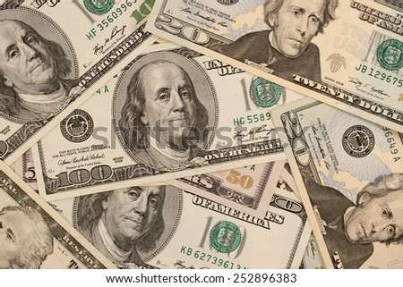 Many Money dollars  - stock photo