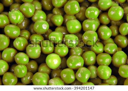 many of green peas close up - stock photo