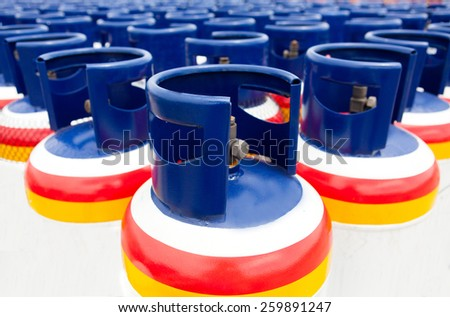 Many of the Gas tanks, Propane-butane - stock photo