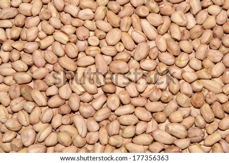 Many peanut kernels piled up together  - stock photo