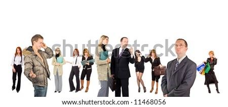 """many people - diversity in business concept  - See similar images of this """"Business People"""" series in my portfolio - stock photo"""