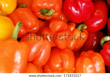 many peppers  - stock photo
