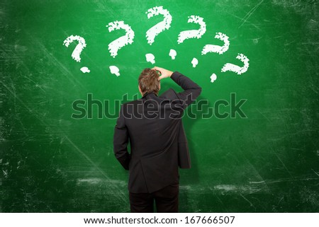 Many questions - stock photo