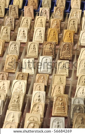 Many Small Image Buddha - stock photo