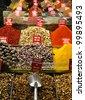 Many spices at the market. - stock photo