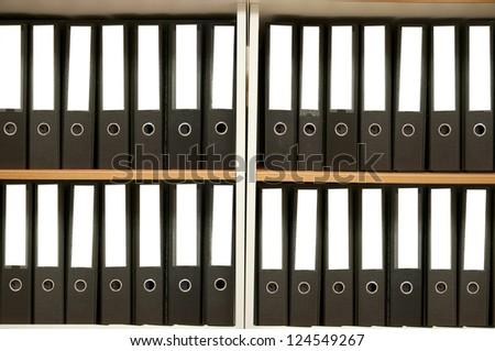 Many the big black folders - stock photo