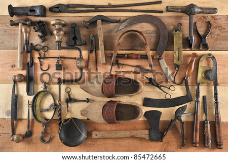 many tools of the past - stock photo