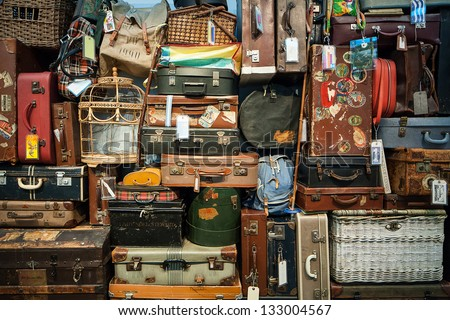 Many travel bags - stock photo