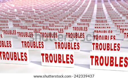 Many troubles - stock photo