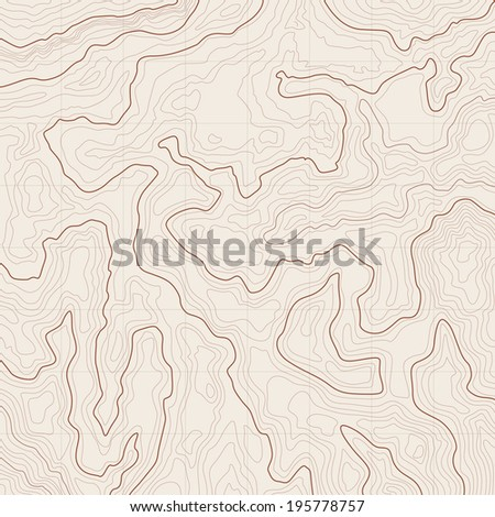Map background with topographic contours and features - stock photo