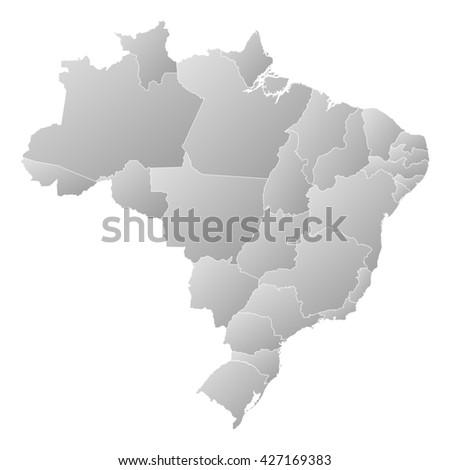 Map - Brazil - stock photo
