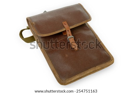 map case of the Soviet Army on the white background - stock photo