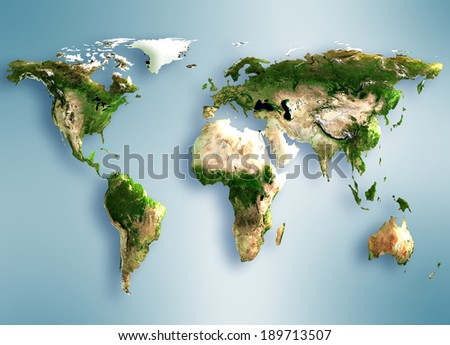 Map earth. Best Concept of global business from concepts series.(Elements of this image furnished by NASA) - stock photo