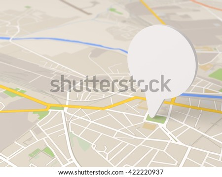 map locator icon 3D illustration - stock photo