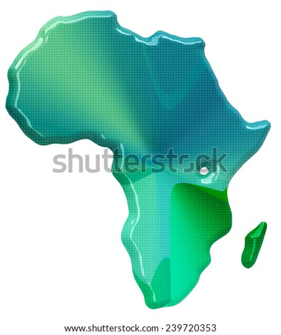 Map of Africa in 3d style - stock photo