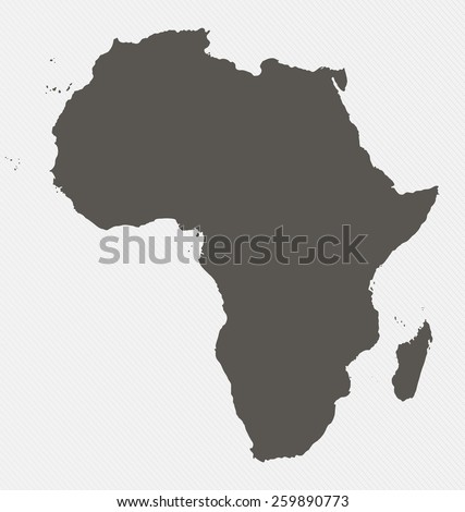 Map of Africa on gray background - stock photo