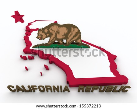 map of california - stock photo