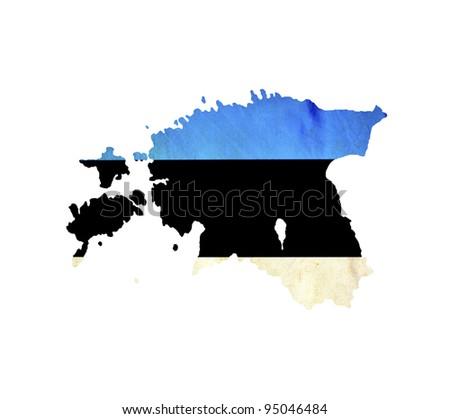 Map of Estonia isolated - stock photo