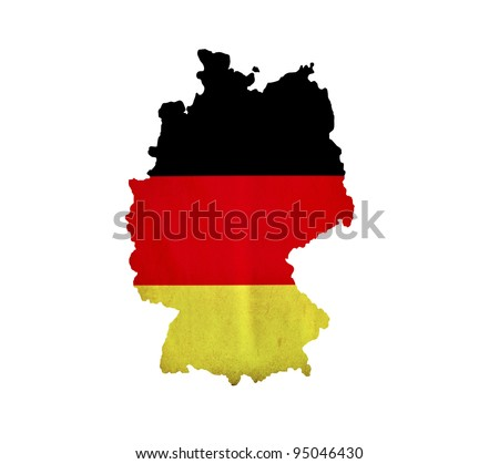 Map of Germany isolated - stock photo