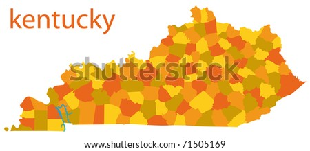 map of kentucky - stock photo