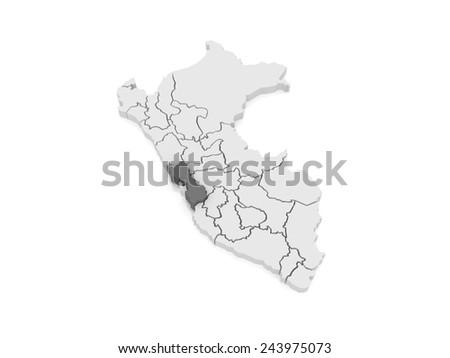 Map of Lima. Peru. 3d - stock photo
