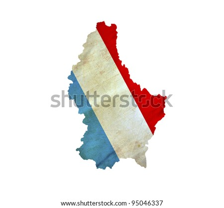 Map of Luxembourg isolated - stock photo
