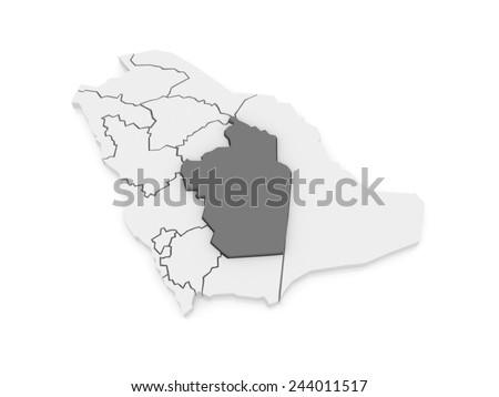 Map of Riyadh. Saudi Arabia. 3d - stock photo