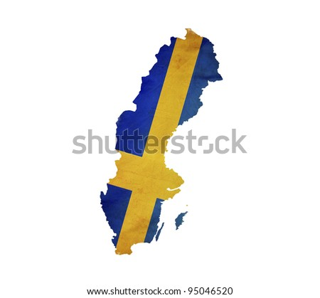 Map of Sweden isolated - stock photo