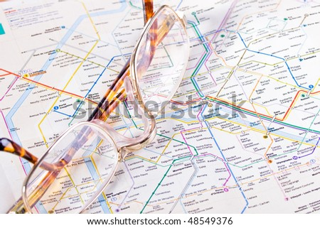 Map of the French Metro. - stock photo