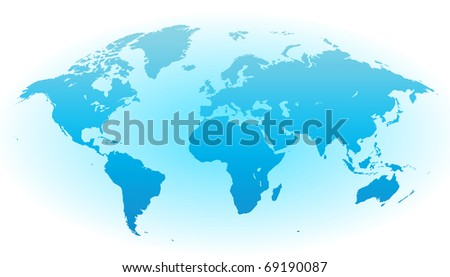 Map of the World. Raster version. Vector version is also available. - stock photo
